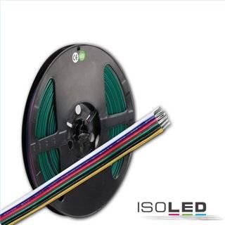 Kabel RGB+W+WW 10m Rolle 6-polig 0.5mm² H03VH-H AWG20