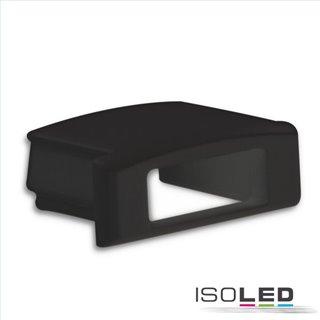 Endkappe EC76B schwarz für Profil PURE14 S mit Kabeldurchführung, 1 STK