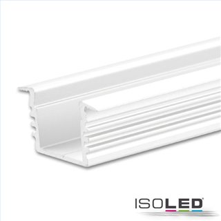 LED Einbauprofil DIVE12 Aluminium weiß RAL 9010, 200cm