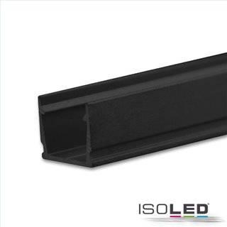 LED Aufbauprofil SURF10 Aluminium schwarz RAL 9005, 200cm