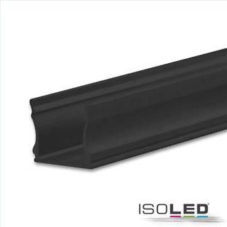 LED Aufbauprofil PURE12 S Aluminium schwarz RAL9005, 200cm