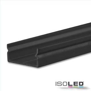 LED Aufbauprofil PURE14 S Aluminium schwarz RAL 9005, 200cm