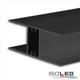 LED Aufbauleuchtenprofil HIDE DOUBLE Aluminium schwarz RAL 9005, 200cm