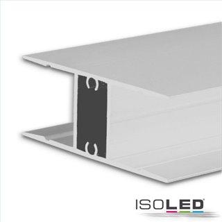 LED Aufbauleuchtenprofil HIDE DOUBLE Aluminium weiß RAL 9003, 200cm