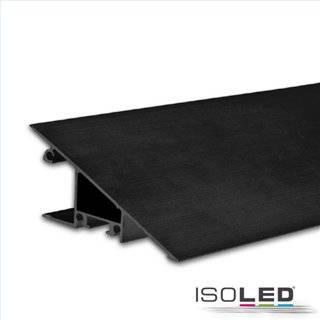 LED Aufbauleuchtenprofil HIDE TRIANGLE Aluminium schwarz RAL 9005, 200cm