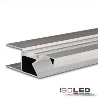 LED Aufbauleuchtenprofil HIDE ASYNC Aluminium eloxiert, 200cm