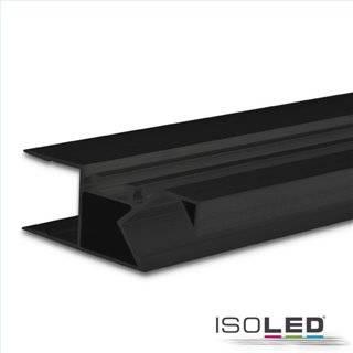 LED Aufbauleuchtenprofil HIDE ASYNC Aluminium schwarz RAL 9005, 200cm