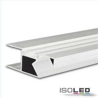 LED Aufbauleuchtenprofil HIDE ASYNC Aluminium weiß RAL 9003, 200cm