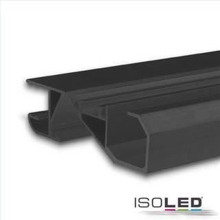 LED Sockelleistenprofil HIDE BOTTOM schwarz RAL 9005