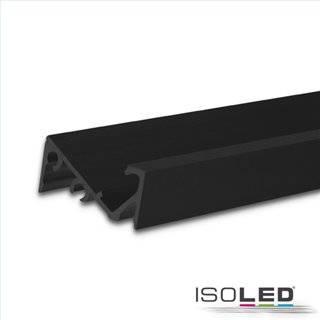 LED Aufbauprofil FURNIT6 S Aluminium schwarz RAL 9005, 200cm