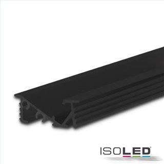 LED Einbauprofil FURNIT6 D Aluminium schwarz RAL 9005, 200cm