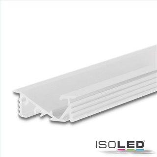 LED Einbauprofil FURNIT6 D Aluminium weiß RAL 9003, 200cm