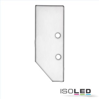 Endkappe EC92 Aluminium eloxiert für Profil HIDE ASYNC inkl. Schrauben