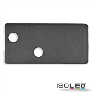 Endkappe EC95 Aluminium schwarz RAL 9005 für Profil FURNIT6 D inkl. Schrauben
