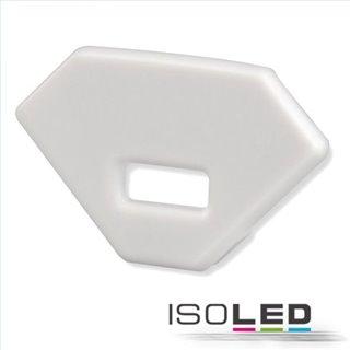 Endkappe EC95 Aluminium weiß RAL 9003 für Profil FURNIT6 D inkl. Schrauben