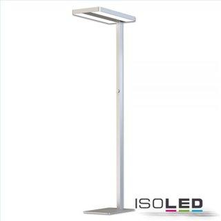 LED Office Pro Stehleuchte Up+Down, 40+40W, UGR19, silber, neutralweiß, Dimm-Regler, CH-Stecker