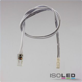 MiniAMP male-Stecker zu Clip Kabelanschluss (max. 3A) für 2-pol. IP20 Stripes mit Breite 6mm