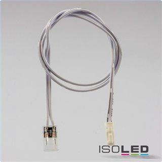 MiniAMP male-Stecker zu Clip Kabelanschluss (max. 3A) für 2-pol. IP20 Stripes mit Breite 8mm