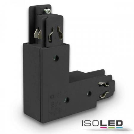 3-Phasen Classic L-Verbinder N-Leiter außen, Schutzleiter innen, schwarz