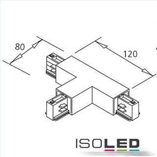3-Phasen Classic T-Verbinder N-Leiter rechts, Schutzleiter links, schwarz