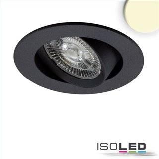 LED Einbauleuchte Slim68 MiniAMP schwarz 9W, 24V DC, 3000K, dimmbar