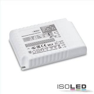 LED Konstantstrom Trafo 300-900mA (9-58V), 30W, Push/1-10V/DALI dimmbar, SELV