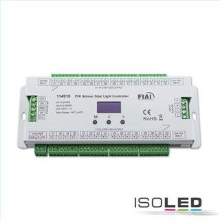Treppen-Effekt PWM-Dimmer 5-24V DC, 32x1A DC + SPI-Output, 2 PIR Sensor + 2 Push-Tast Eingänge
