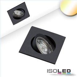 LED Einbauleuchte Sunset Slim68 schwarz, eckig, 9W, 1800-2800K, Dimm-to-warm