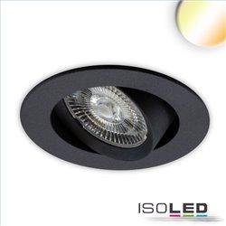LED Einbauleuchte Sunset Slim68 schwarz, rund, 9W, 1800-2800K, Dimm-to-warm