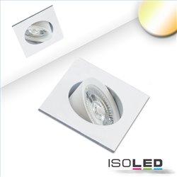 LED Einbauleuchte Sunset Slim68 weiss, eckig, 9W, 1800-2800K, Dimm-to-warm