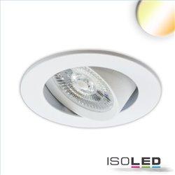 LED Einbauleuchte Sunset Slim68 weiss, rund, 9W, 1800-2800K, Dimm-to-warm