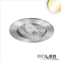 LED Einbauleuchte Sunset Slim68 Alu, rund, 9W, 1800-2800K, Dimm-to-warm