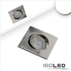 LED Einbauleuchte Slim68 Alu gebürstet, eckig, 9W, neutralweiß, dimmbar