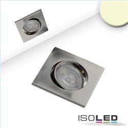 LED Einbauleuchte Slim68 Alu gebürstet, eckig, 9W, warmweiß, dimmbar