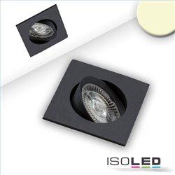 LED Einbauleuchte Slim68 schwarz, eckig, 9W, warmweiß, dimmbar