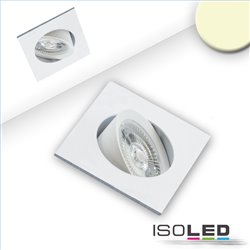 LED Einbauleuchte Slim68 weiß, eckig, 9W, warmweiß, dimmbar