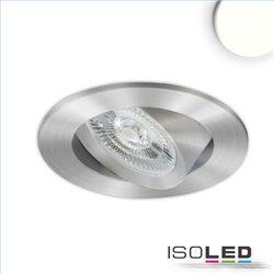 LED Einbauleuchte Slim68 MiniAMP Alu gebürstet, rund, 8W, 24V DC, neutralweiß, dimmbar