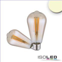 E27 Vintage Line LED ST64 Birne 7W warmweiß, Glas amber