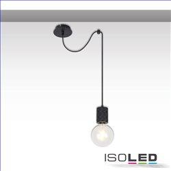 Hängeleuchte Metall schwarz, 120cm Kabel, 1xE27 Fassung, exkl. Leuchtmittel