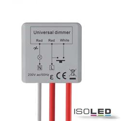 Universal-Push Mini-Dimmer für dimmbare 230V Leuchten/Trafos, 250VA
