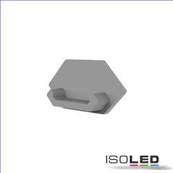 Endkappe E205 für LED Fliesenprofil Ausseneck, mit Kabeldurchführung, 1STK