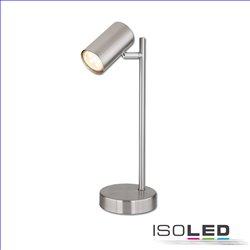 Tischleuchte nickel matt, mit Schalter, 1xGU10 Fassung, exkl. Leuchtmittel