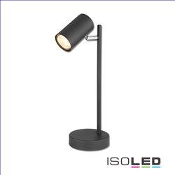Tischleuchte schwarz, mit Schalter, 1xGU10 Fassung, exkl. Leuchtmittel