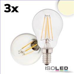 E14 LED Illu, 4W, klar, warmweiß, 3er Pack