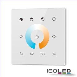 DALI DT8 CCT 1 Gruppe Einbau-Touch Master-Controller, weiß, 100-240V AC oder DALI-Bus Spannung