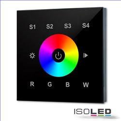 DALI DT8 RGB+W 1 Gruppe Einbau-Touch Master-Controller, schwarz, 100-240V AC oder DALI-Bus Spannung