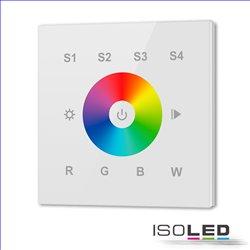 DALI 4 Gruppen / 4 Szenen RGB+W Einbau-Touch Master-Dimmer, weiß, 100-240V AC / DALI-Bus Spannung