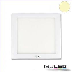 Deckenlampe Slim 18mm mit PIR-Bewegungs-/Lichtsensor, weiß, 18W, Trafo integriert, warmweiß