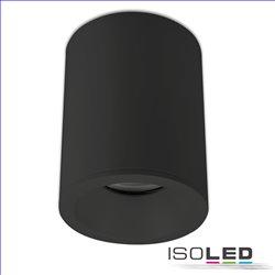Deckenaufbauleuchte rund für GU10, IP65, schwarz matt