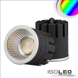 LED Spot RGB+3000K GU10 8W, 5-polig, 24V DC, silber, 60°, CRI80